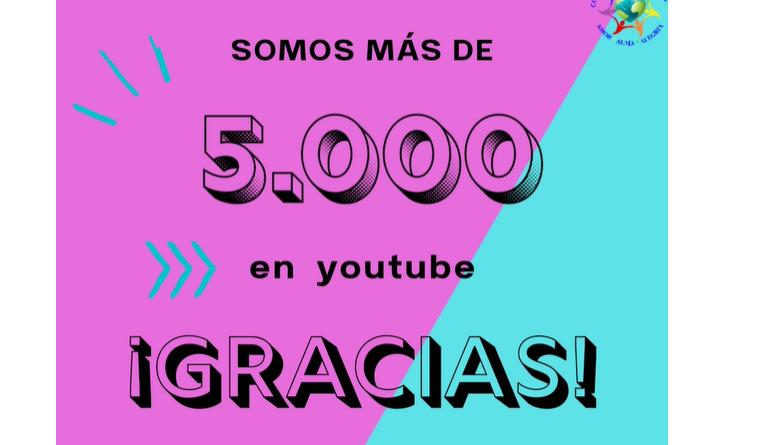 5000 suscritores en Youtube, ¡ Gracias Hashem!